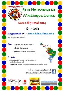 1Flyer Fête Nationale de l'Amérique Latine en France 31 mai 2014
